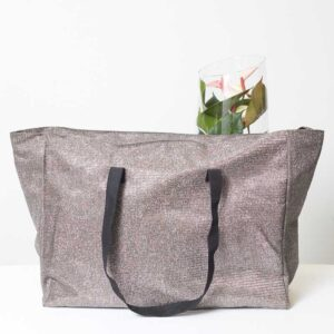 CidiCri - Borsa Shopping XL Zip - silver - L'Aura