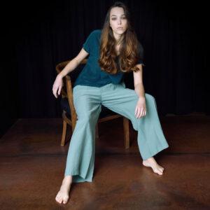 CidiCri - Pantalone Peach Skin Palazzo - Alysi