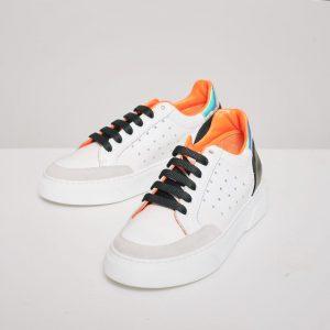CidiCri - Scarpe - Sneakers white orange - Chiarini